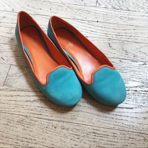 Cole haan air blue suede slip-on ballet loafer